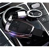 DeAutoBug Keyless Entry Remote Case Smart Key Fob Holder Shell Cover for Mercedes-Benz MB Mercedes Benz B C E S Class SL SLC GLS GLE CLS GLA GLC G AMG GT GTs Sprinter Van(Black)