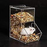 Gifty ハムスター 自動給餌器 餌入れ ハリネズミ 小動物 固定式 餌やり リス モルモット フェレット 鳥 食器
