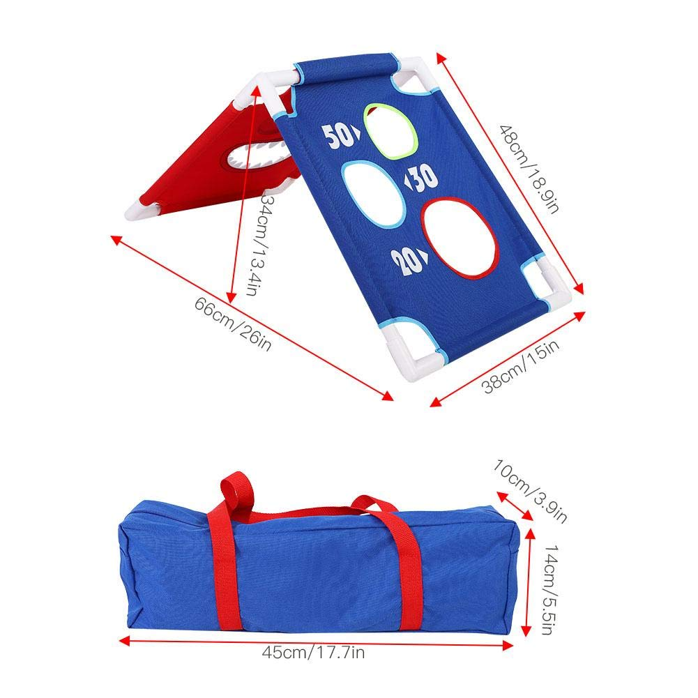 VGEBY1 Bean Bag Toss Game Set, Throwing Bean Bag Game Board Portable Toss Across Set of 1 Board and 6 Beanbags for Indoor Outdoor Play by VGEBY1 (Image #3)