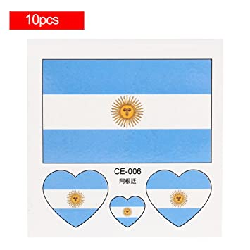 fb0b7efb4 Temporary Tattoos National Flags, Waterproof & Non-toxic, 2018 World Cup  Flag Face