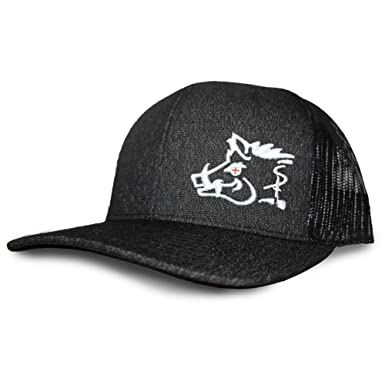 Oil Field Hats Heather Black White Sniper Pig Hat - SPH808 at Amazon ... 71abdbe2f88