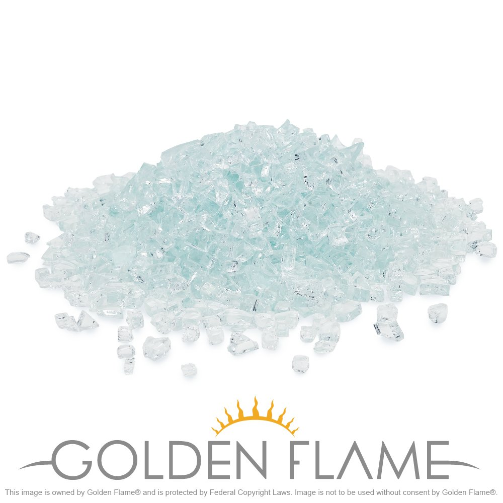Golden Flame 20-Pound Fire Glass 1/4-Inch Arctic Ice by Golden Flame