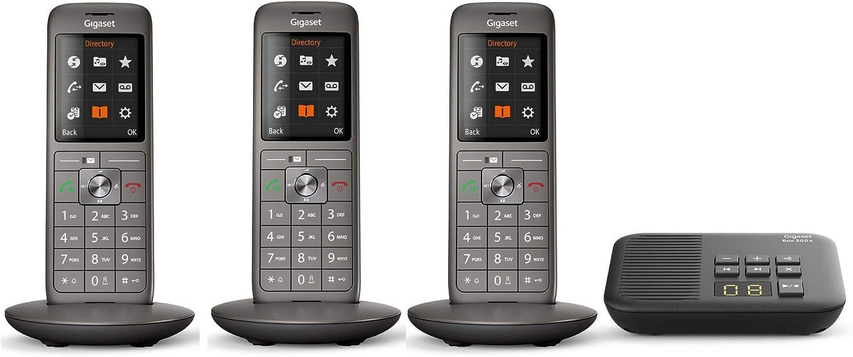 Gigaset Cl660a V 2 0 Trio Analoges Telefon Set Inkl 3 Mobilteilen Und Anrufbeantworter