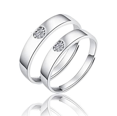 1 Pair Of Ladies Engagement Rings Pair Hypoallergenic 925 Sterling