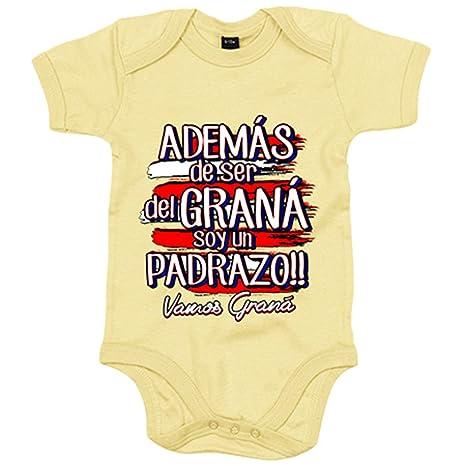 6-12 meses Amarillo Body beb/é adem/ás de ser Boquer/ón soy un padrazo M/álaga f/útbol