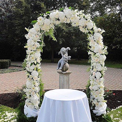Church Wedding Arch Decorations: Adorox 7.5 Ft Lightweight White Metal Arch Wedding Garden