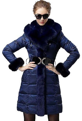 Delicol - Abrigo - Plumaje - para mujer azul azul Large