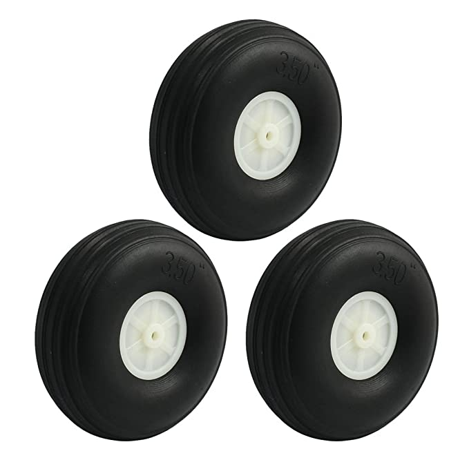 3/Teile RC Flugzeug Teile Montage-Super Light PU Reifen Rad 70/mm 7/cm