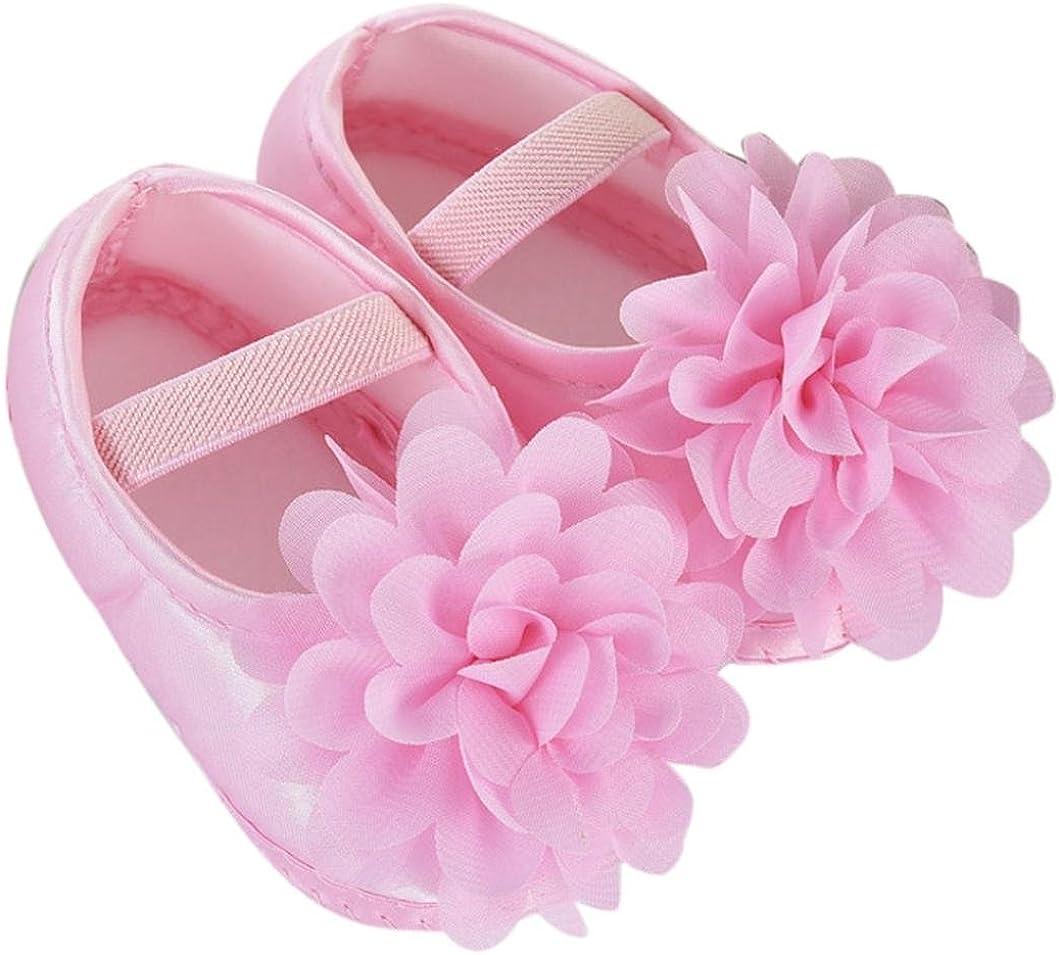 Vovotrade Beb/é Ni/ña Primer Paso Caminar Zapatos Flor de Gasa Banda el/ástica