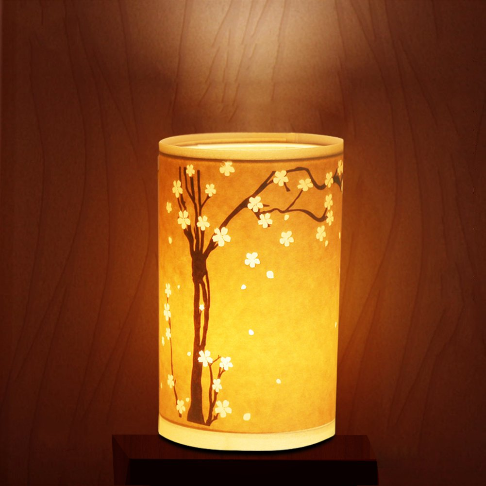 Table Lamp, HQOON Bedside Desk Lamp, Minimalist Nightstand Lamps for Bedroom, Beautiful Hand Carved Hollow Patterns, Warm Night Lighting for Relaxing or Sleeping, Ideal Gift for Kids, Family or Friend