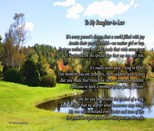 to My Daughter-in-Law - Poem Print (8x10) - Beautiful Daughter-in-Law Gift for Any Occasion (unframed)