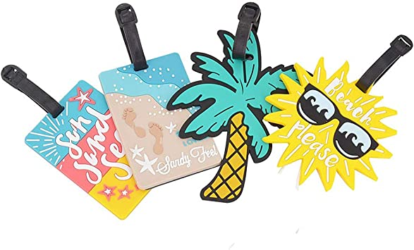 PTNca Cartoon Ice Cream Cake Doughnut Luggage Tag Suitcase ID Tag Cute Personalized Suitcase Tag for Kids Girls Women 5Pcs Luggage Tag