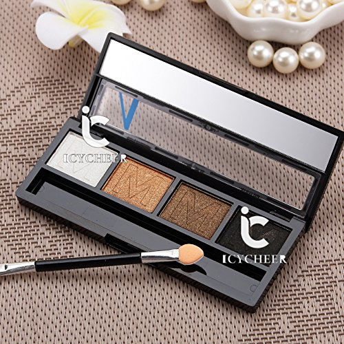 4 Colors Makeup Smokey Eyeshadow Palette Naked Eye Shadow Sh