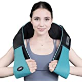 Shiatsu Neck and Shoulder Massager with Heat, Deep Tissue 3D Electric Kneading Pillow Massager for Neck Back Shoulder…