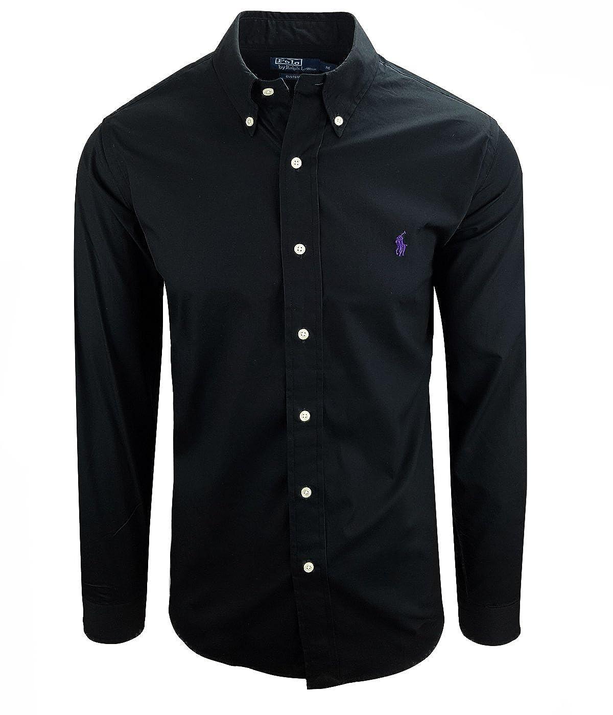 Ralph Lauren Herren Hemd Classic Custom Fit S-M-L-XL Farbe:Schwarz Grö ß e:S