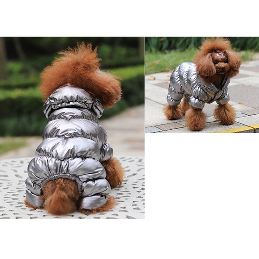 Maglione Dolcevita con Costume da Cane Impermeabile per Cani di Piccola Taglia Giacca Imbottita in Caldo Cotone Imbottita per Vestiti per Animali Domestici JstDoit Vestiti Caldi per Cani Invernali