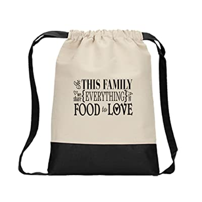 a60e525284dd good Drawstring Bag Canvas This Family Share Everything From Food ...