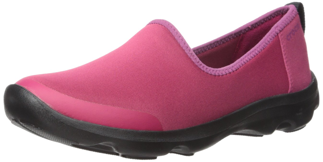 Crocs Women's Busy Day Stretch Skimmer Sneaker B01A6LEA94 8 M US|Plum