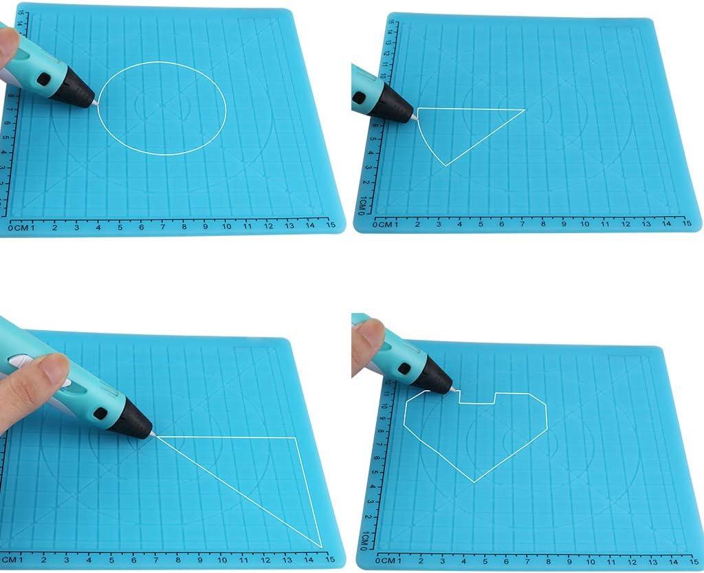 H HILABEE Pluma De Impresión 3D En Forma Múltiple Plantilla Básica ...