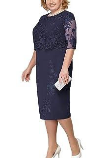 Amazon.com: Vestido de mujer de talla grande con encaje ...