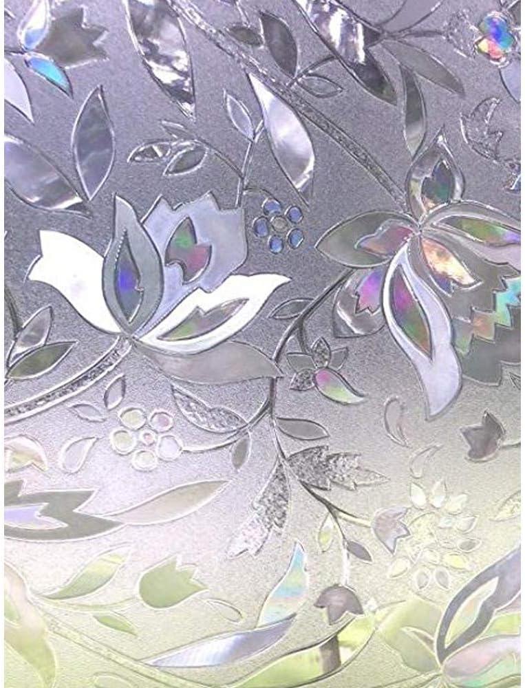 Zindoo Vinilo de Ventana Vinilos para Cristales Vinilo Ventana Privacidad Adhesivo Ventanas Vinilo Translucido Privacidad de la Ventana Decorativos Cristales (44.5 x 200 CM)