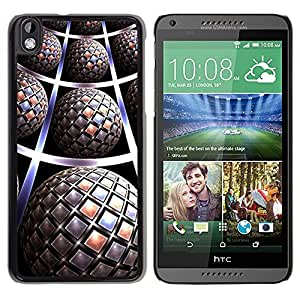 Be Good Phone Accessory // Dura Cáscara cubierta Protectora Caso Carcasa Funda de Protección para HTC DESIRE 816 // Pattern 3D Art Globe Futuristic