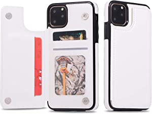 XINHUANG Leather Phone Case for iPhone 8 11 Pro Max X 7 8 Plus 5 5s Business Card Holders Retro PU Case for iPhone Xs Max XR 6 6s 7 8 XS (Color : G, Size : Iphone6/6S)