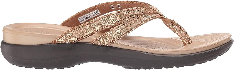 Crocs Capri Strappy Flip W, Scarpe da Spiaggia e Piscina Donna Marrone Bronze Espresso 000
