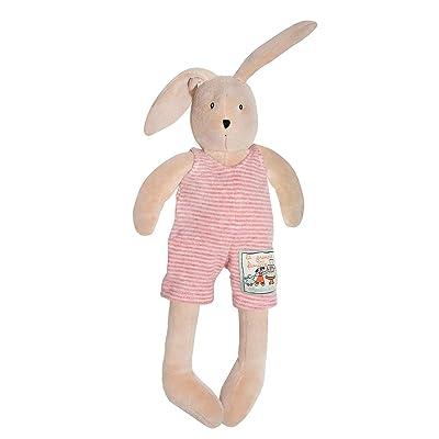 "Moulin Roty ""La Grande Famille"" Collection Plush Stuffed Animal - 632027 LITTLE Rabbit Sylvain, 12"" : Plush Toys : Baby"