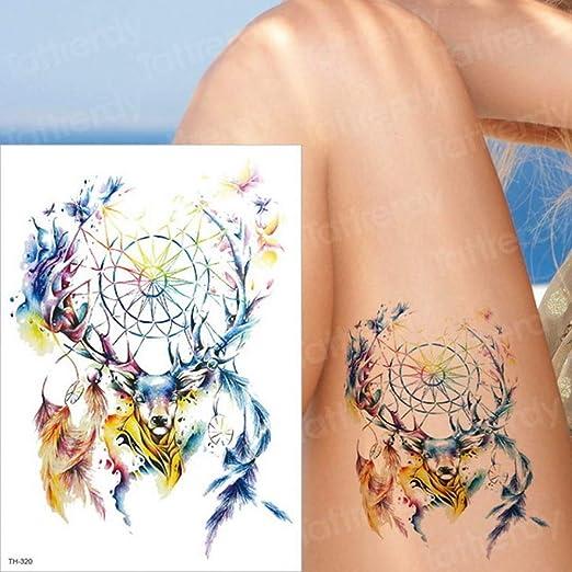 Handaxian 3 Piezas Chica Colorida Serpiente Mariposa Brazo Tatuaje ...