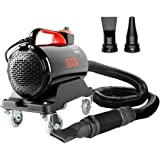 SGCB PRO Car Air Dryer Blower, 5.0HP Powered Double Mode Temp High Velocity Car Dryer Air Cannon Detail Blower w/Caster Base
