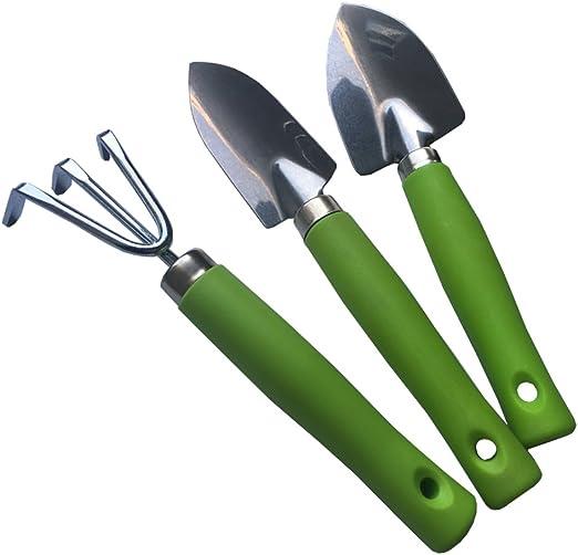 Kids Helper Mini jardín herramientas Set para los niños 3 piezas Herramientas de mano buena para más pequeños Helper: Amazon.es: Jardín