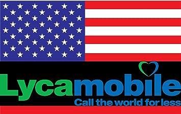 travSIM - Tarjeta SIM Prepagada Lycamobile para EE.UU. (Incluyendo Hawaii & Puerto Rico) - 5 GB de Datos 3G/4G/LTE Móvil, Llamadas Nacionales e ...