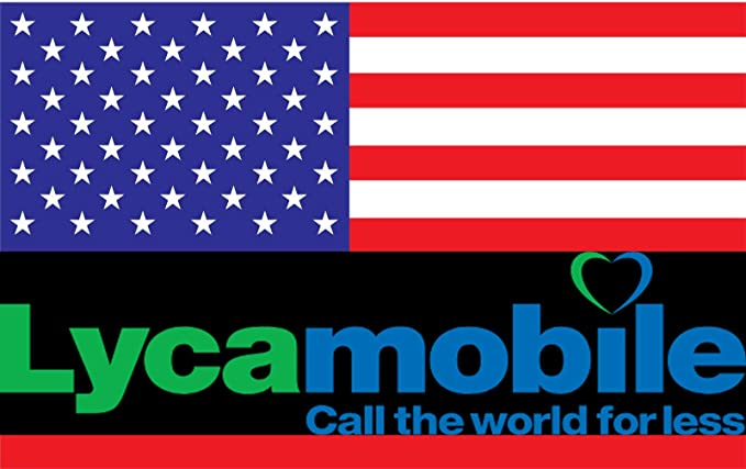 Prepaid SIM Card USA & Puerto Rico Lycamobile 6 GB Mobile Internet -  Unlimited Nationwide Talk & Text & Unlimited International Talk & Text to  75+