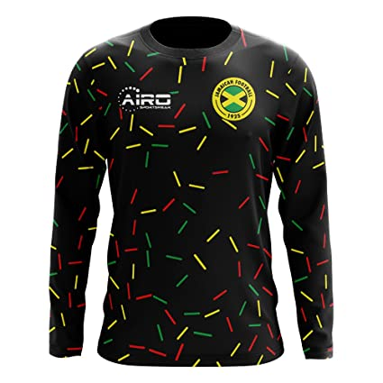 78d8c3f61 Image Unavailable. Image not available for. Color: Airo Sportswear 2018-2019  Jamaica Long Sleeve Third Concept Football Soccer T-Shirt Jersey