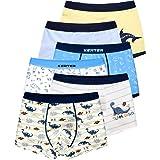 LeQeZe 6 Pezzi Ragazzi Boxer Misto Ragazzo Mutande Boxers Intimo Pantaloncini da Bagno per Bambini,2-11 Anni