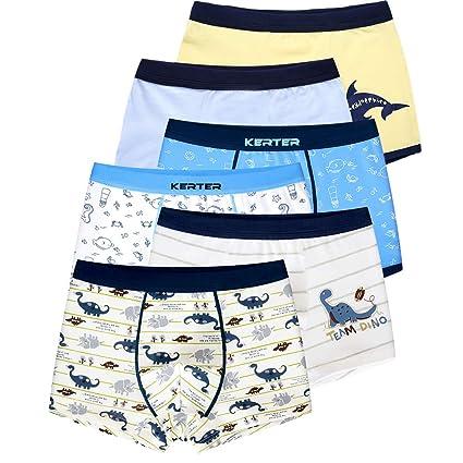 LeQeZe 6 Pack Kinder Jungen Boxershorts Unterwäsche Slips Junge Boxer Unterhose Baumwolle Schlüpfer 2-11 Jahre Größe 86-146