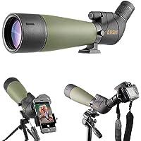 Gosky 20-60x80 Telescopio Terrestre con trípode y Adaptador para teléfono Inteligente - El Alcance Impermeable más Nuevo…