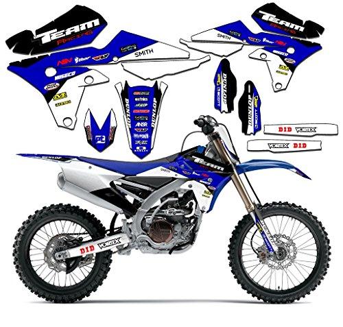 Body Graphic Kit - Team Racing Graphics kit compatible with Yamaha 2000-2007 TTR 125, EVOLV