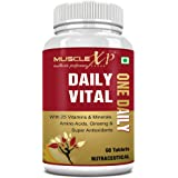 MuscleXP Daily Vital Multivitamin - 60 Tablets - With 25 Vitamins & Minerals, 5 Super Antioxidants, Ginseng, Amino Acids