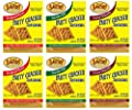Savory Saltine Seasoning, 1.4 Ounce, Sampler Set, 3 Flavors, 6 Pack from Savory Fine Foods