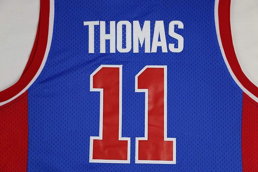 HS-ZHAOPAN Fan Jersey T-Shirt Costume Basket Hommes Detroit Pistons # 11 Thomas Comp/étition Gilet sans Manches Sportswear /À S/échage Rapide 165CM ~ 190CM
