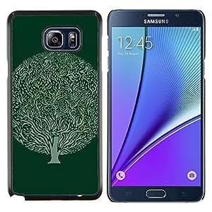 Eason Shop / Premium SLIM PC / Aliminium Casa Carcasa Funda Case Bandera Cover - Bola verde Dibujo Tinta Naturaleza - For Samsung Galaxy Note 5