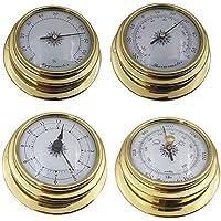 siwetg 4 tum 4 st/set termometer hygrometer barometerklockor klocka kopparskal zirkonium marin för väderstation marin…