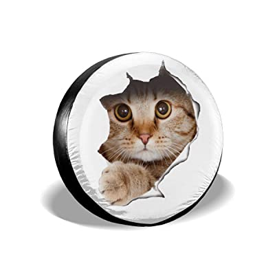 ULNL Cute Cat Disrupter Spare Wheel Tire Cover Funny Waterproof Tire Protectors Novelty: Clothing