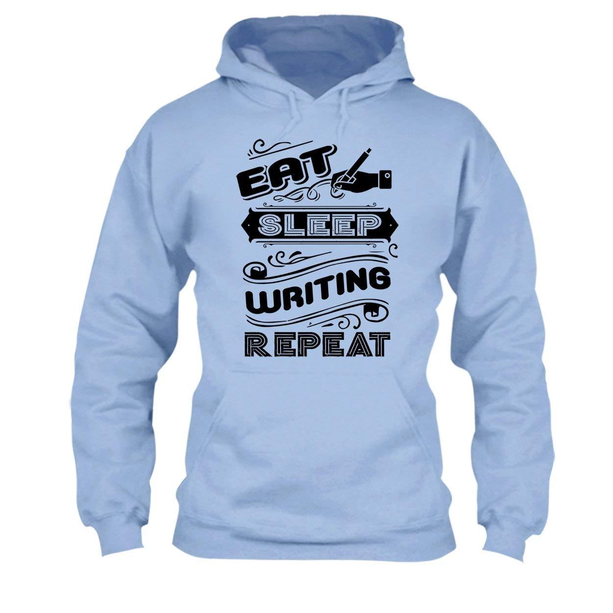 Cool Long Sleeve Shirt Eat Sleep Writing Repeat Tee Shirt
