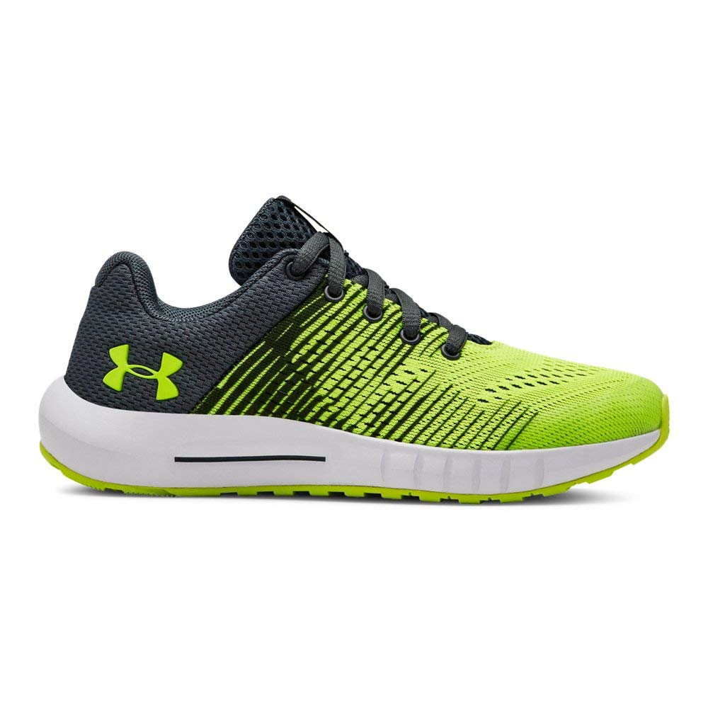 Under Armour Boys' Pre School Pursuit Graphic Sneaker, High-Vis Yellow (100)/High-Vis Yellow, 3