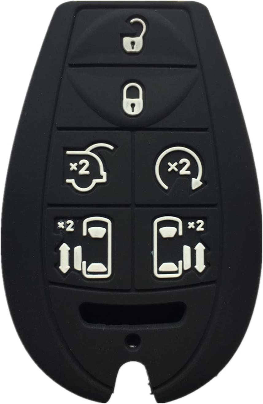 KAWIHEN Silicone Key Fob Cover Replacement for Town Country Dodge Grand Caravan M3N5WY783X 2701A-C01C 68043594AA 68043594AA
