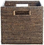 Artifacts Rattan Storage Basket with Cutout Handles