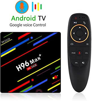 H96 MAX Plus 4K Ultra HD TV Box USB 3.0 Smart TV Box Android 8.1 Quad Core Red Player Soporte BT Double WiFi / 3D / H.265 Set Top Box: Amazon.es: Electrónica